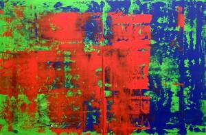 Abstrakt203, Acryl on Canvas Panels, 120x80cm