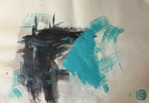Acryl on Laid Paper, 70x100cm, 2016