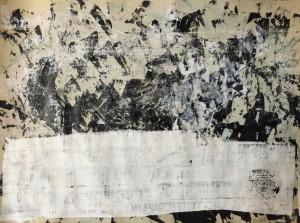 Acryl on Laid Paper 02, 60x80cm, 2016