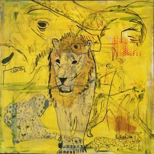 Animalische Fusion, Acryl on Canvas, 100x100cm