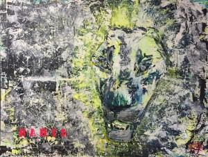 Bahia, Acryl auf Canvas, 116x61cm