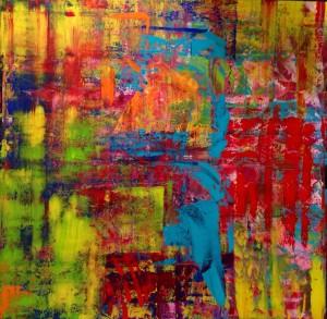 Brainfucked, Acryl on Canvas, 150x150cm