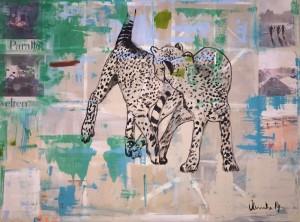 Cheetah, Mixed Media on Canvas, 160x120cm