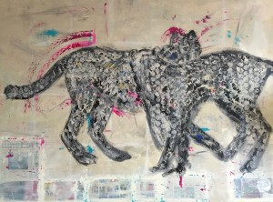 Cheethas Reloaded, Mixed Media on Canvas, 160x120cm