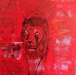 Davide, Mixed Media on Canvas, 100x100cm
