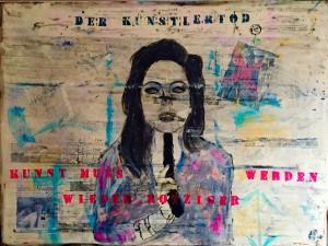 Der Kuenstlertod, Mixed Media on Canvas, 120x160cm