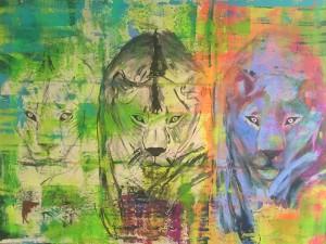 Hide and Seek, Acryl on Canvas, 160x120cm