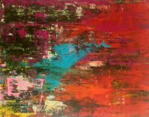 Rotkäppchen, Acryl on Canvas, 160x120cm