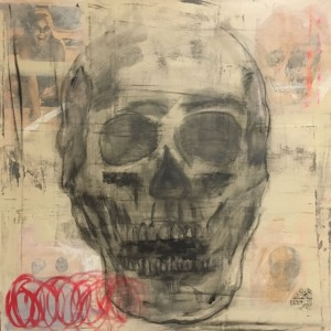 Skull is Dull, Mixed Media on Canvas, 80x80cm
