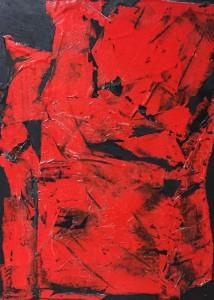 Terra fertilis B I, Mixed Media on Canvas, 81x60cm