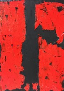 Terra fertilis B II, Mixed Media on Canvas, 81x60cm