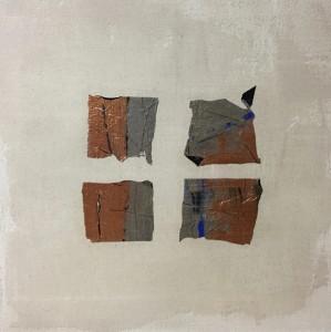 Terra fertilis E II, Mixed Media on Canvas, 50x50cm