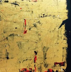 Terra fertilis Gold, Mixed Media on Canvas, 100x100cmjpg