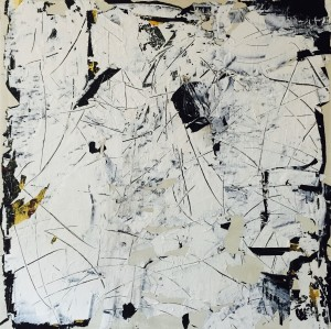 Terra fertilis White, Mixed media on Canvas, 100x100cm