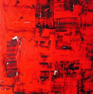 Terra fertilis Red, Mixed Media on Canvas, 100x100cm