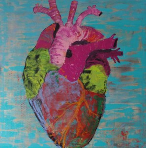 The Heart, Acryl on Canvas 100x100 cm