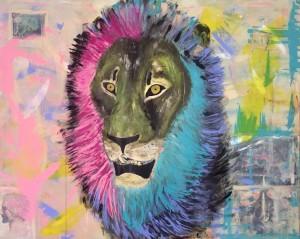 The Predator, Mixed Media on Canvas 150x120cm