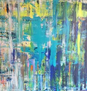 Waterfall, Acryl on Canvas, 150x150cm
