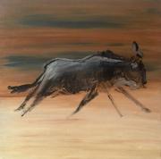 Wildebeest Sand Acryl on Canvas, 50x50cm